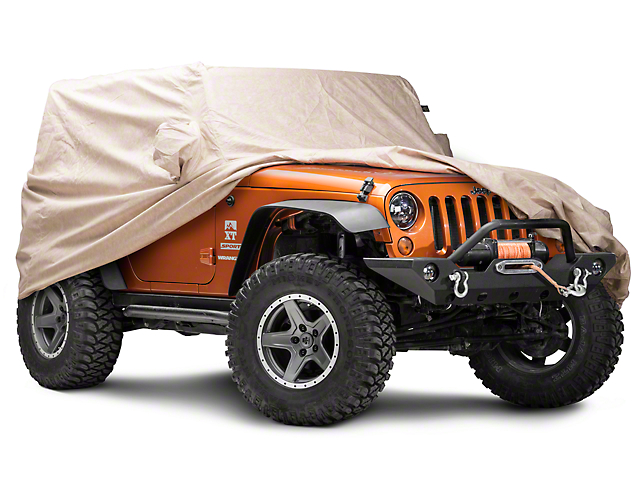 Covercraft Deluxe Custom-Fit Car Cover - Taupe (07-18 Jeep Wrangler JK 2 Door)
