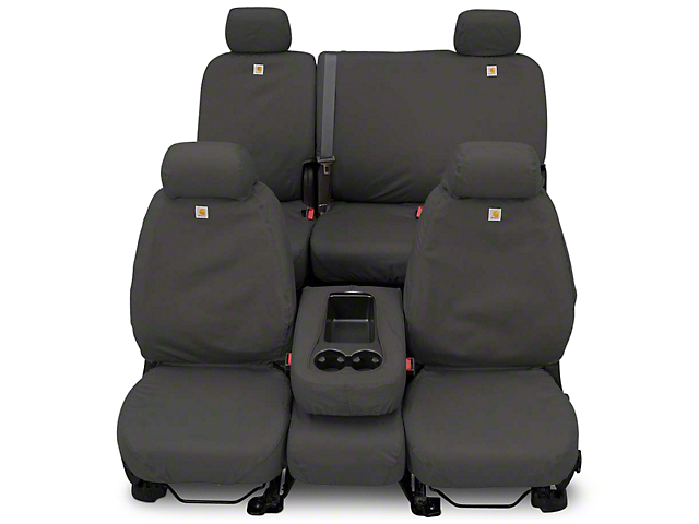 Covercraft Carhartt SeatSaver Front Row Seat Covers - Gravel (87-95 Jeep Wrangler YJ)