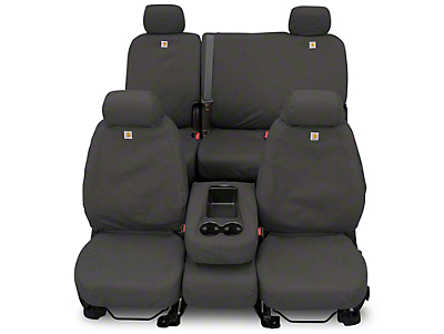 Covercraft Carhartt Seat Saver Front Row Seat Covers - Gravel (87-95 Wrangler YJ)