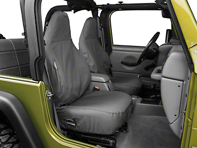 Covercraft Seat Saver Front Row Seat Covers - Charcoal (97-06 Jeep Wrangler TJ)