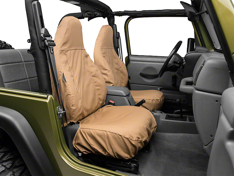 Covercraft Seat Saver Front Row Seat Covers   Tan (97 06 Jeep Wrangler TJ