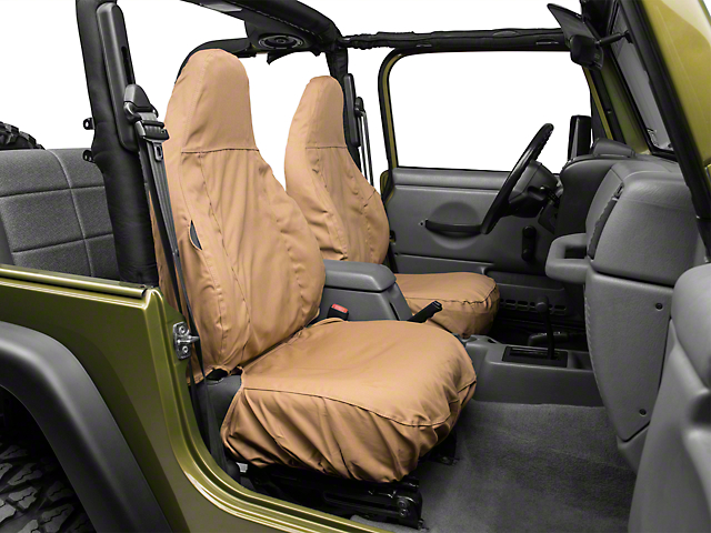 Jeep Wrangler Seat Covers >> Covercraft Jeep Wrangler Seat Saver Front Row Seat Covers Tan