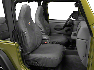 Covercraft Carhartt Seat Saver Front Row Seat Covers - Gravel (97-06 Jeep Wrangler TJ)
