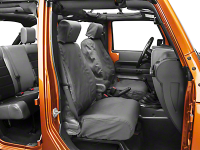 Covercraft Seat Saver Front Row Seat Covers - Charcoal (07-18 Wrangler JK)