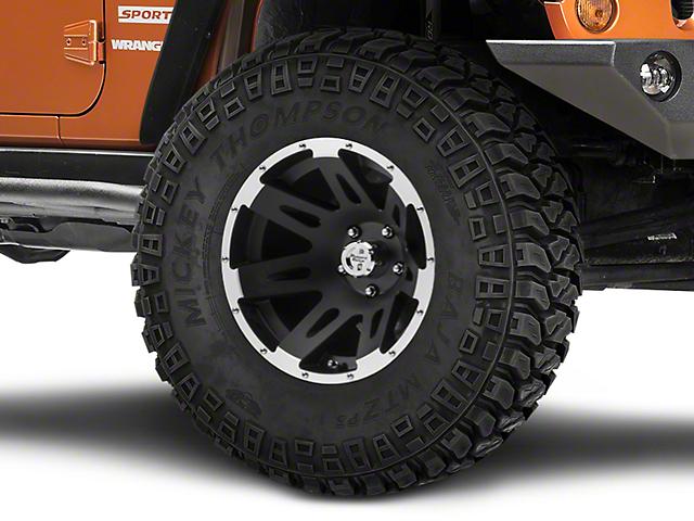 Rugged Ridge XHD Black w/ Machined Lip Wheel; 17X9 (07-18 Jeep Wrangler JK)