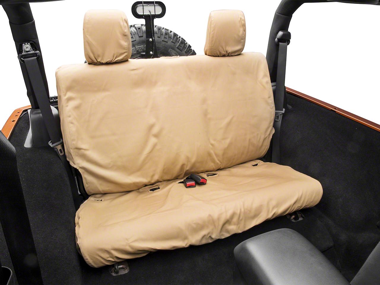 Covercraft Seat Saver 2nd Row Seat Covers - Tan (07-18 Wrangler JK 2 Door; 2018 Wrangler JL 2 Door)