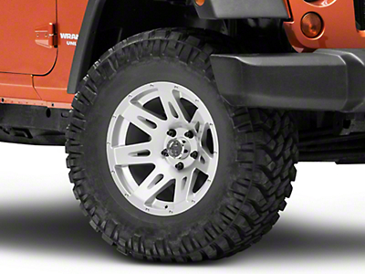 Rugged Ridge XHD Silver Wheel - 17x9 (07-18 Wrangler JK; 2018 Wrangler JL)