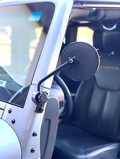 Lange Quick Mirror II - Black (87-18 Jeep Wrangler YJ, TJ & JK)