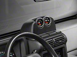 Auto Meter Dash Top Gauge Pod; Dual 2-1/16 Inch (97-06 Jeep Wrangler TJ)