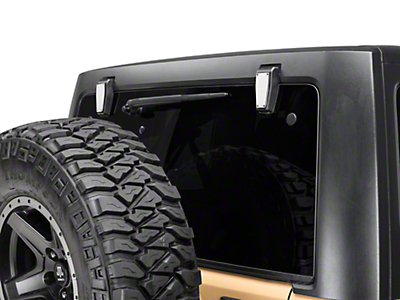 T-REX T1 Series Rear Window Hinge Kit - Polished (07-18 Jeep Wrangler JK)