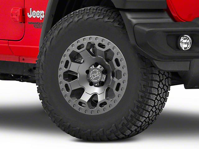 Black Rhino Warlord Matte Gunmetal Wheel; 17x9 (18-20 Jeep Wrangler JL)
