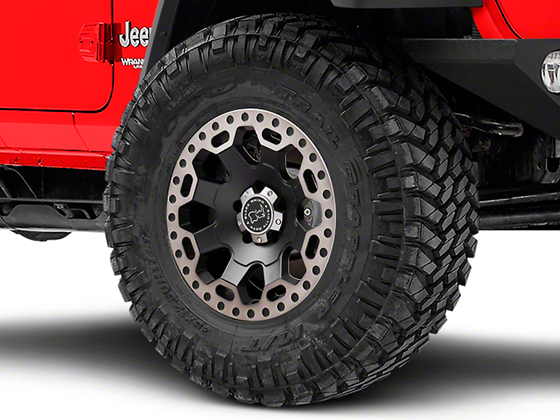 Black Rhino Warlord Matte Black Machined Wheel - 17x9 (18-19 Jeep Wrangler JL)