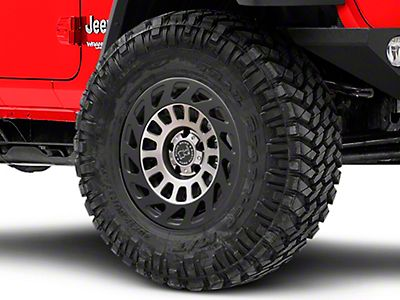 Black Rhino Jeep Wrangler Warlord Matte Black Machined Wheel