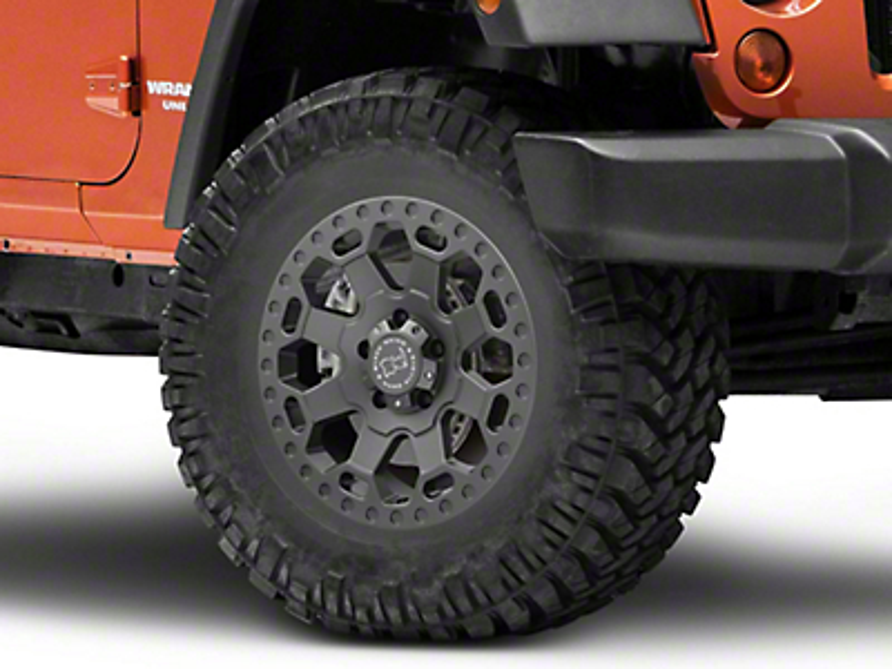 Black Rhino Warlord Matte Gunmetal Wheel - 17x8 (07-18 Jeep Wrangler JK; 2018 Jeep Wrangler JL)