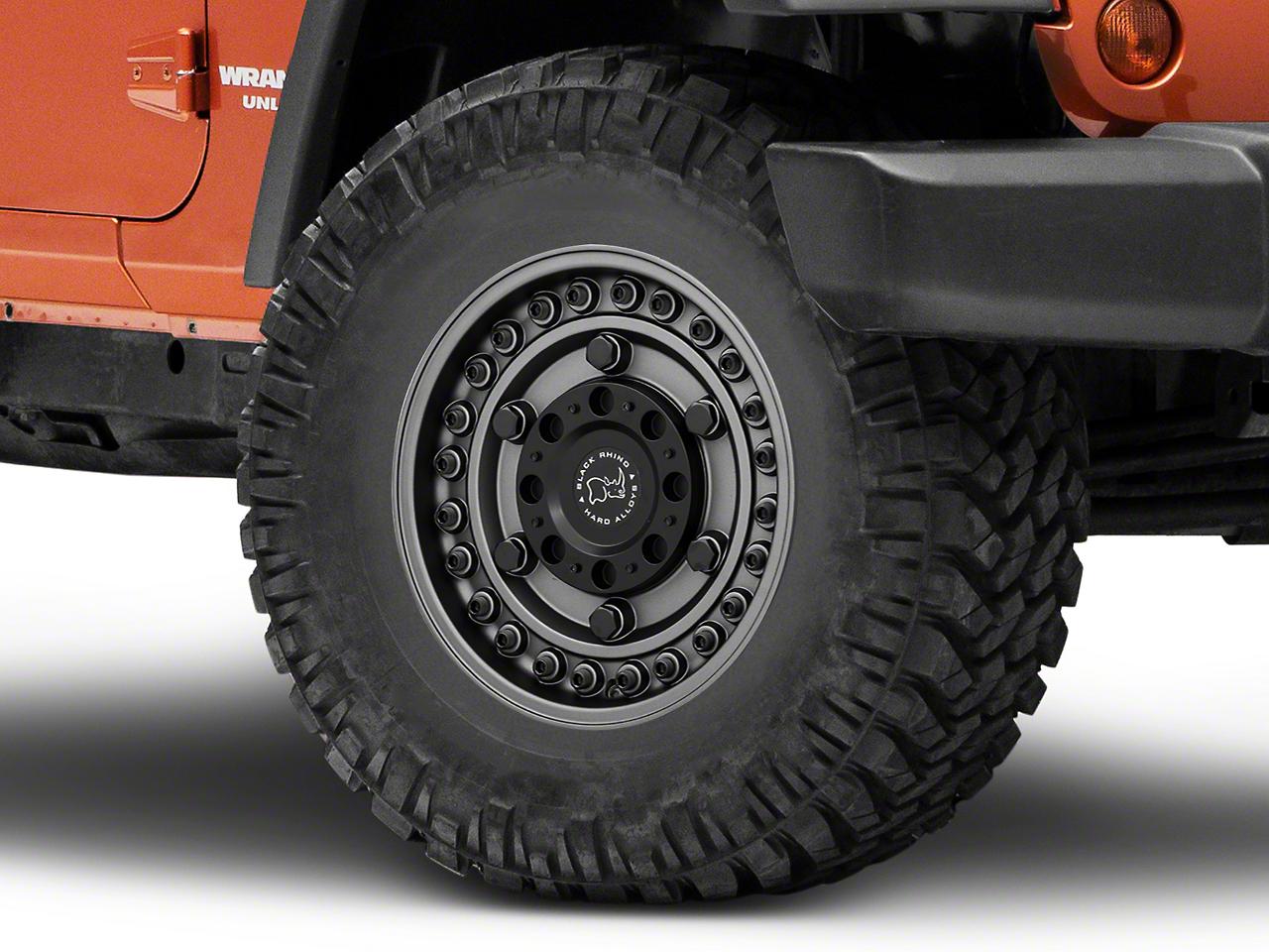 Black Rhino Armory Gunblack Wheel - 17x9.5 (07-18 Jeep Wrangler JK; 2018 Jeep Wrangler JL)