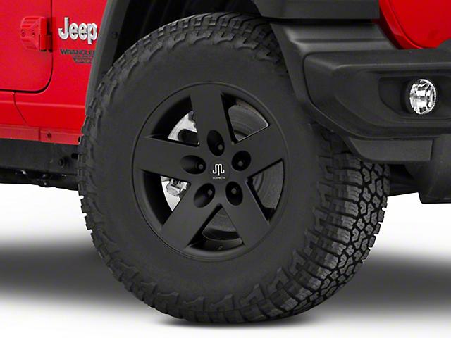 Mammoth Moab Black Wheel; 17x9; -6mm Offset (18-20 Jeep Wrangler JL)