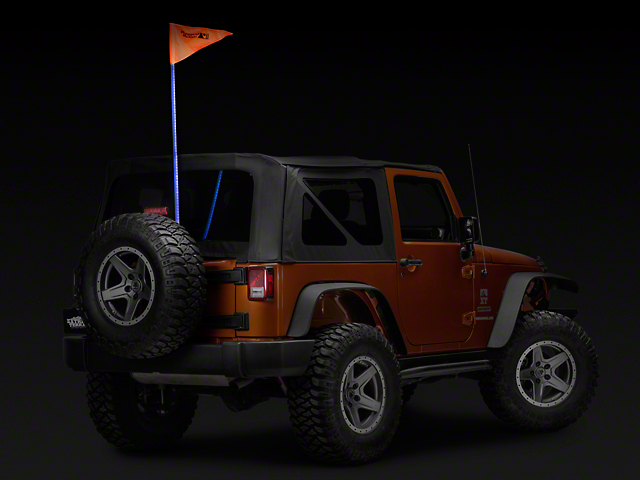 Rugged Ridge RGB Lighted Whip with Controller; 60-Inch (07-18 Jeep Wrangler JK)