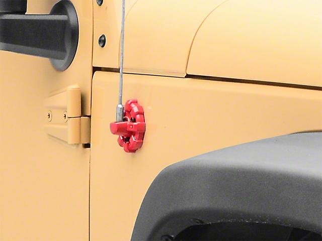 Rugged Ridge Elite Antenna Base - Red (07-19 Jeep Wrangler JK & JL)