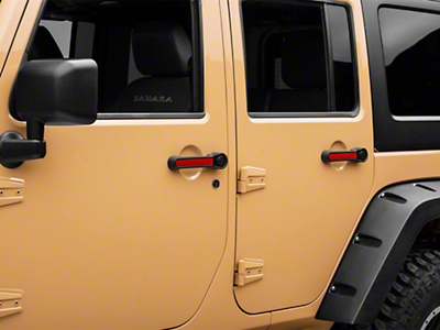 Rugged Ridge Elite Door Handle Inserts - Red (07-18 Wrangler JK 4 Door)