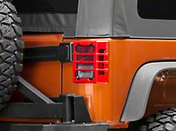 Rugged Ridge Elite Tail Light Guards - Red (07-18 Jeep Wrangler JK)