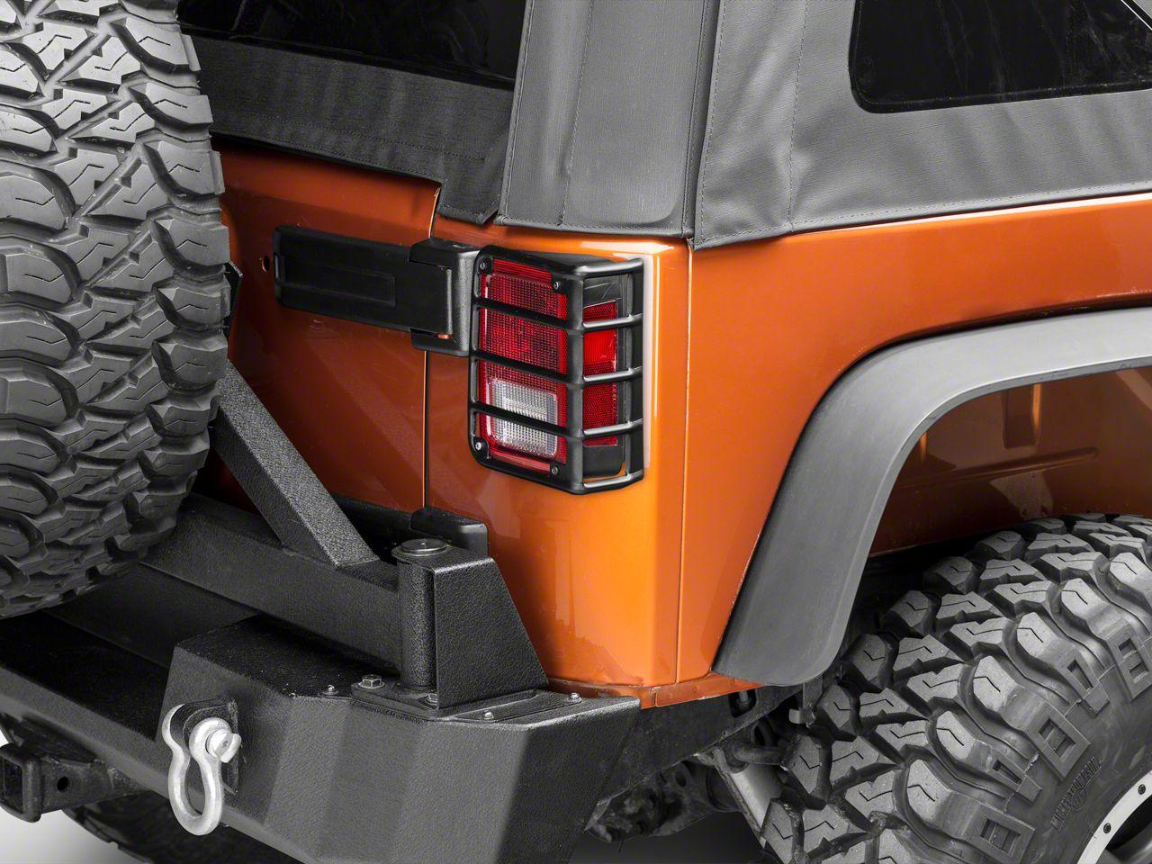 Rugged Ridge Tail Light Euro Guards - Textured Black (07-18 Jeep Wrangler JK)