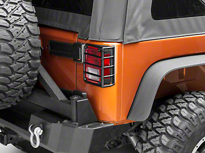 Rugged Ridge Tail Light Euro Guards - Textured Black (07-18 Jeep Wrangler JK)
