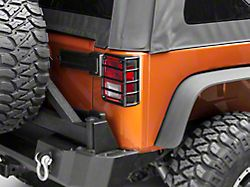 Rugged Ridge Euro Tail Light Guards; Textured Black (07-18 Jeep Wrangler JK)