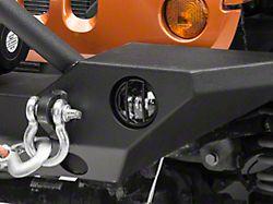 Rugged Ridge Fog Light Euro Guards for Standard Bumpers - Textured Black (07-18 Jeep Wrangler JK)