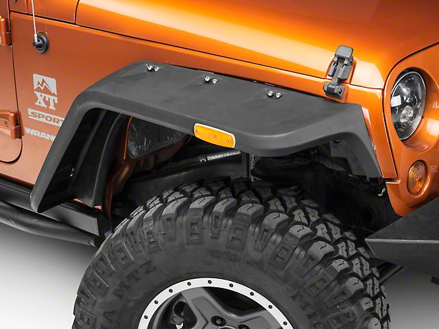 Rugged Ridge Hurricane Fender Flares; Textured; EU Compliant (07-18 Jeep Wrangler JK)