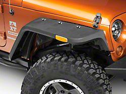 Rugged Ridge Hurricane Fender Flares w/ Side Marker - Textured Black (07-18 Jeep Wrangler JK)