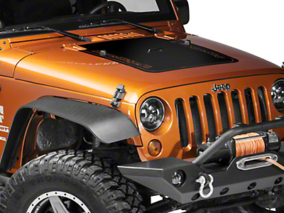 Rugged Ridge Hood Decal - Matte Black (07-18 Wrangler JK)