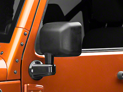 Rugged Ridge Paintable Mirror Arm Covers - Black (07-18 Jeep Wrangler JK)