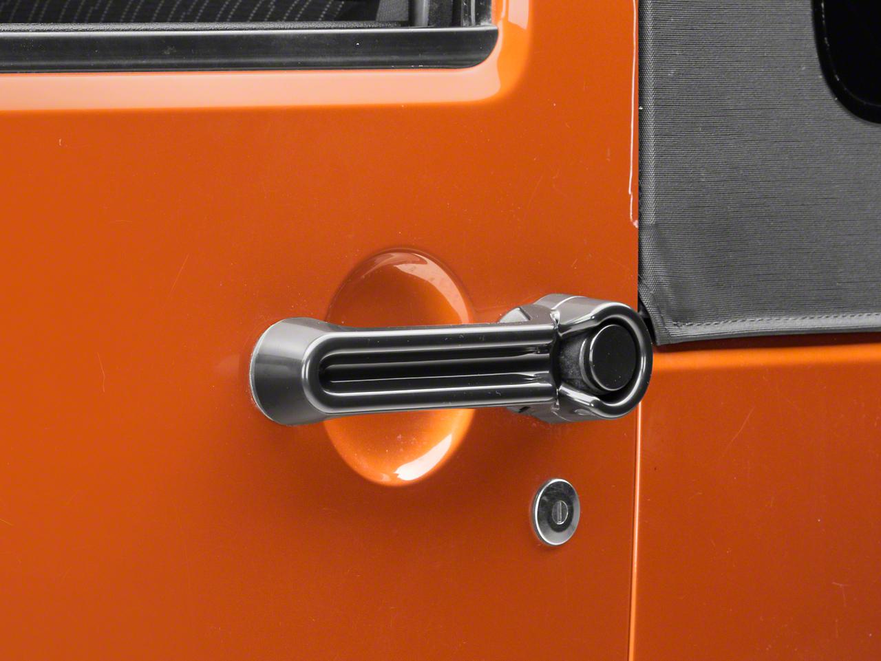 Rugged Ridge Paintable Door Handle Cover - Black (07-18 Jeep Wrangler JK)
