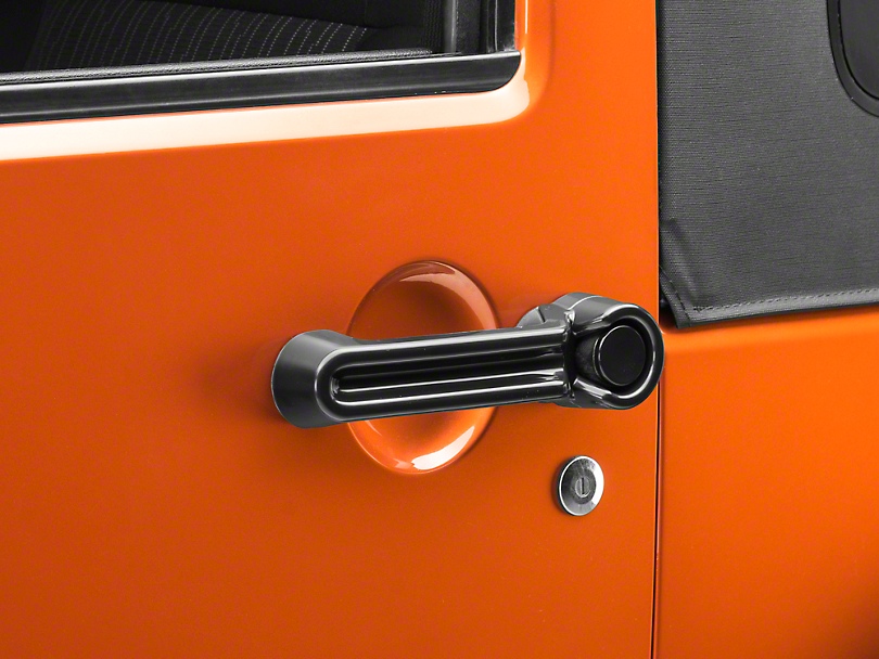 Rugged Ridge Paintable Door Handle Cover Kit - Black (07-18 Jeep Wrangler JK 2 Door)