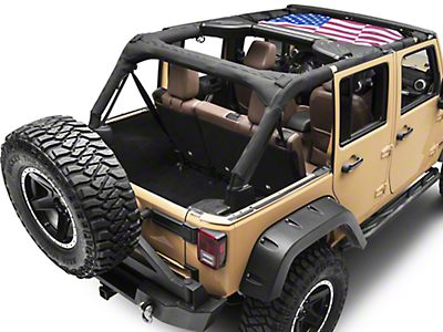 Rugged Ridge Front American Flag Eclipse Sun Shade (07-18 Jeep Wrangler JK)