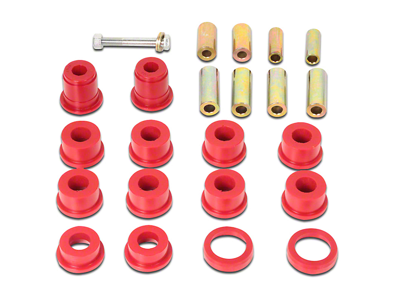 Rugged Ridge Front Control Arm Bushing Kit; Black (07-18 Jeep Wrangler JK)