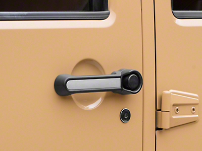 Rugged Ridge Elite Door Handle Inserts - Aluminum (07-18 Jeep Wrangler JK 4 Door)