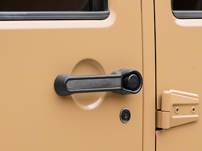 Rugged Ridge Elite Door Handle Inserts - Paintable (07-18 Jeep Wrangler JK 4 Door)