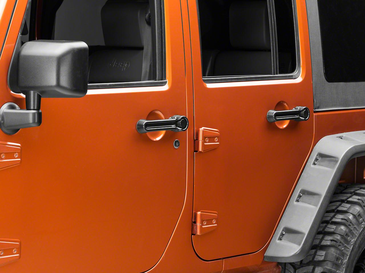 Rugged Ridge Paintable Door Handle Cover Kit - Black (07-18 Jeep Wrangler JK 4 Door)