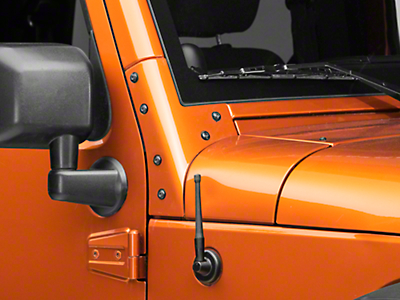Rugged Ridge 6 in. Reflex Stubby Antenna (97-18 Wrangler TJ, JK & JL)