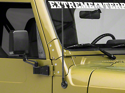 Rugged Ridge 21 in. Reflex Stubby Antenna (97-18 Jeep Wrangler TJ, JK & JL)