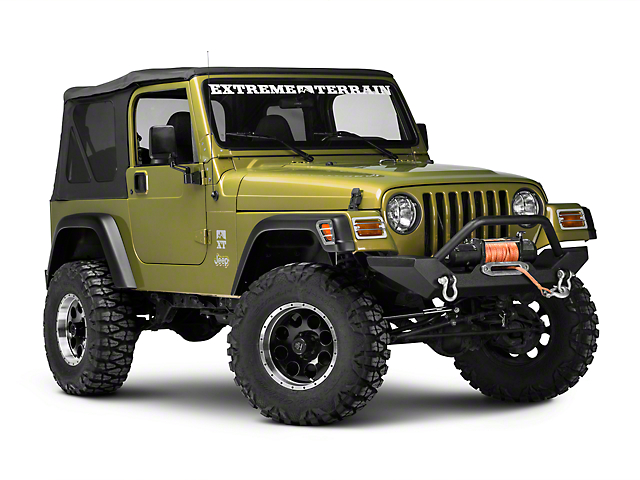 Rugged Ridge Front Euro Light Guards; Stainless Steel (97-06 Jeep Wrangler TJ)