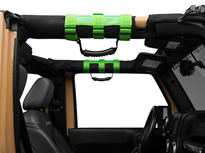 Rugged Ridge Ultimate Grab Handles - Green (87-18 Jeep Wrangler YJ, TJ, JK & JL)