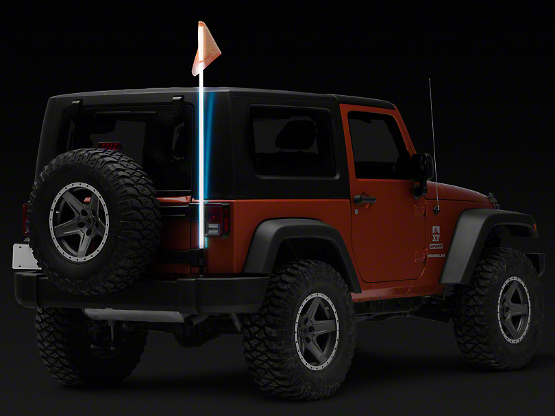 Rugged Ridge 60 in. RGB Lighted Whip w/ Controller (Universal Fitment)