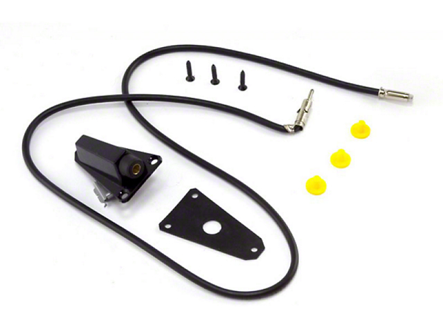 Antenna Base; Black (87-95 Jeep Wrangler YJ)