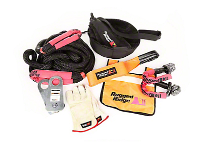 Rugged Ridge Premium Recovery Kit w/ Mesh Bag