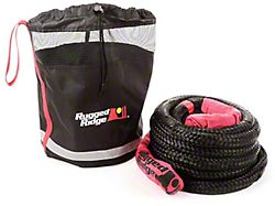 Rugged Ridge 7/8-Inch x 30-Foot Kinetic Recovery Rope with Cinch Storage Bag