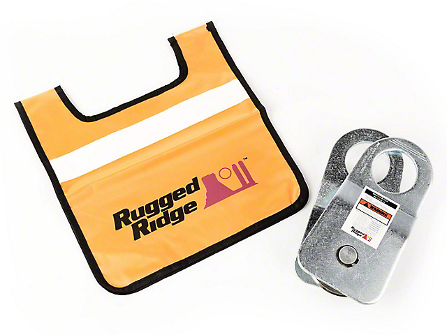 Rugged Ridge Snatch Block Pulley with Damper; 20,000 lb.