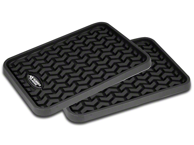 Rugged Ridge All-Terrain Rear Floor Mats; Black (20-21 Jeep Gladiator JT)