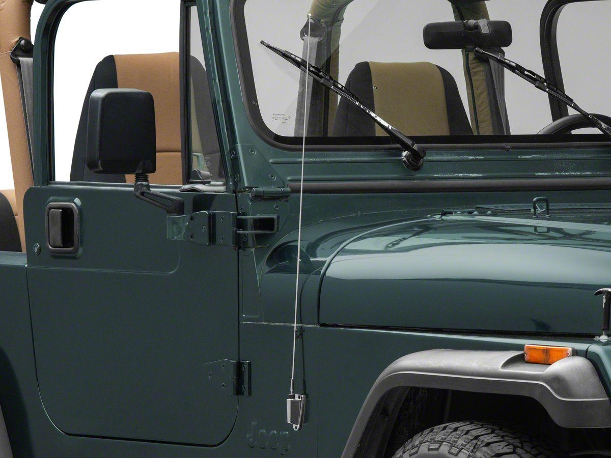 Antenna Mast & Base Kit - Chrome (87-95 Jeep Wrangler YJ)